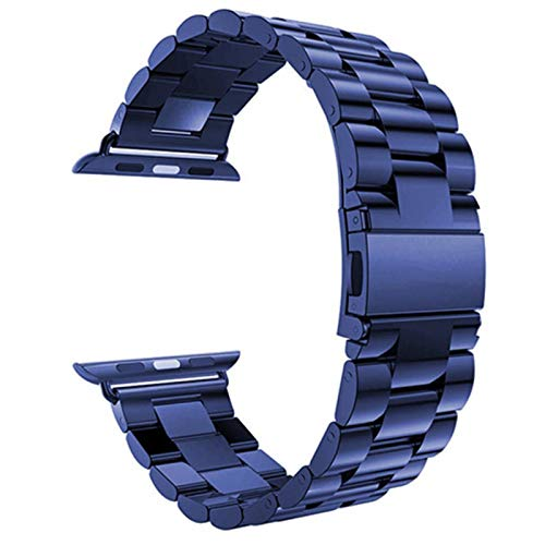 Correa de acero inoxidable para Apple Watch SE 6 5 4 40mm 44mm Band Pulsera de eslabones metálicos para iWatch 1/2/3 42mm 38mm Accesorios de reloj