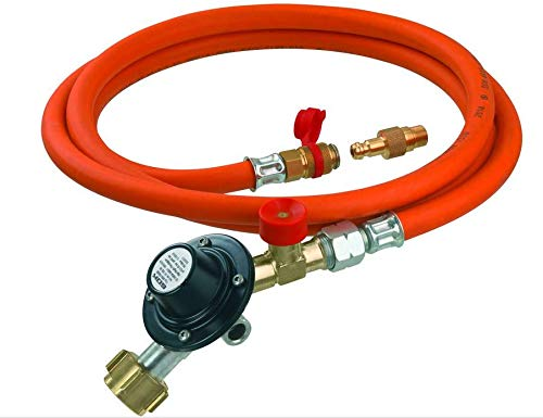 GOK Regler-Schlauch-Set Gasdruckregler Schlauchleitung 50 mbar Anschlusssets für Gasgrills