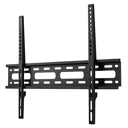 Hama TV Wandhalterung für Fernseher bis 75 Zoll (sehr flacher Wandhalter, VESA 50x50 - 600x400, für Flachbildfernseher bis 35 kg, mit Wasserwaage) Fernsehhalterung, schwarz
