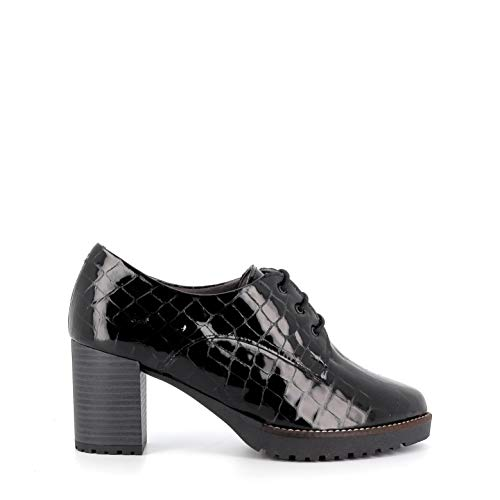 Pitillos - Zapato Abotinado Cordones Coco - Negro, 39