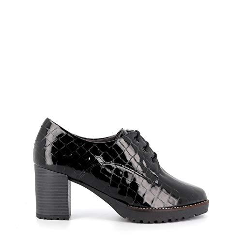 Pitillos - Zapato Abotinado Cordones Coco - Negro, 38