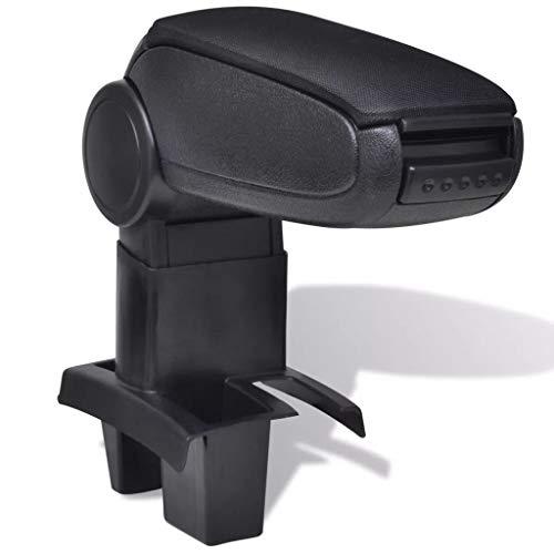 vidaXL Reposabrazos para Diferentes Modelos de Coches ABS Negro Apoyabrazos