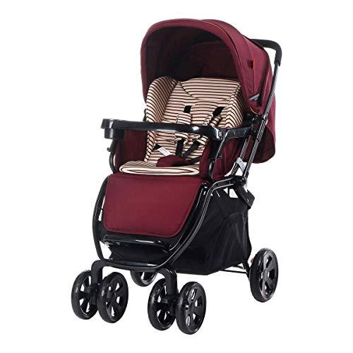 SGSG Cabrio Kinderwagen , Kinderwagen Kompakter Einzelkinderwagen Kleinkindersitz Kinderwagen , Aufbewahrungskorb, großer Sitzbereich für Neugeborene und Kleinkinder
