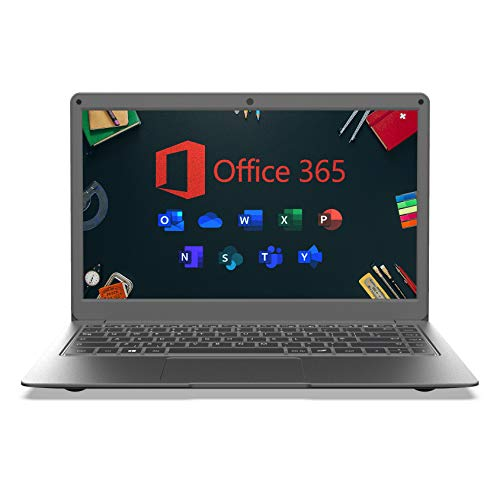 Jumper Microsoft Office 365 Laptop, 13.3 Inch FHD Laptop (4GB DDR3, 64GB eMMC, Expandable Memory 1TB SSD and 256GB TF, Windows 10, Bluetooth 4.2, Intel Celeron CPU)