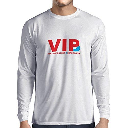 lepni.me Herren T Shirts Sehr wichtig Biertrinker - Alkohol, betrunken, lustig Trinksprüche - Humorvolle Geschenkideen, Bar oder Partykleidung (X-Large Weiß Rote)