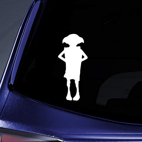 Bargain Max Decals Magic Elf Silhouette Sticker Decal Notebook Car Laptop 5.5' (White)