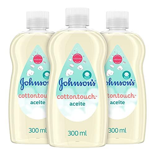 Johnson's Baby CottonTouch Aceite corporal a base de algodón puro - 3 x 300 ml