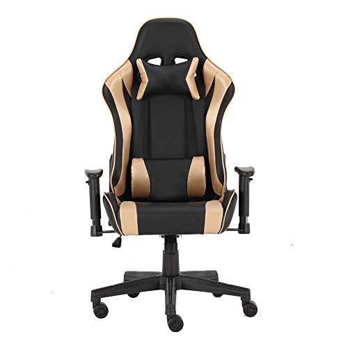 HYY-YY Pelle Gioco Alta sedia posteriore dell'ufficio sedia girevole sedia dell'unità di elaborazione di e-sport sedia regolabile Telaio...