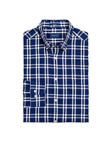 GANT Herren O1. Windblown Oxford Plaid Reg Bd Freizeithemd, Blau (Persian Blue 423), X-Large (Herstellergröße: XL)