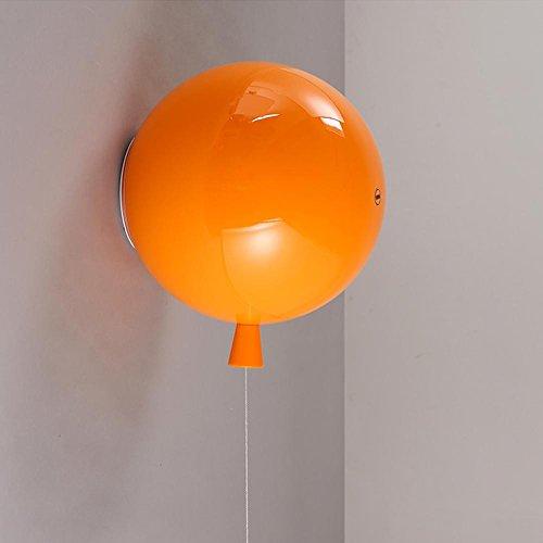 Couleur Ballon Plafonnier,Moderne La Chambre des enfants Plafonnier,LED Plafond Eclairage,Lampe de chambre à coucher, Couloir Cuisine Lumières de salle à manger Ø30cm E27 Max 40W, lampe murale-Orange