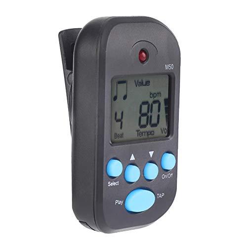 RiToEasysports Metronomo Digitale, Mini LCD Digital M50 Metronomo elettronico Beat Tempo Accessorio Musicale per Chitarra Portatile Universale