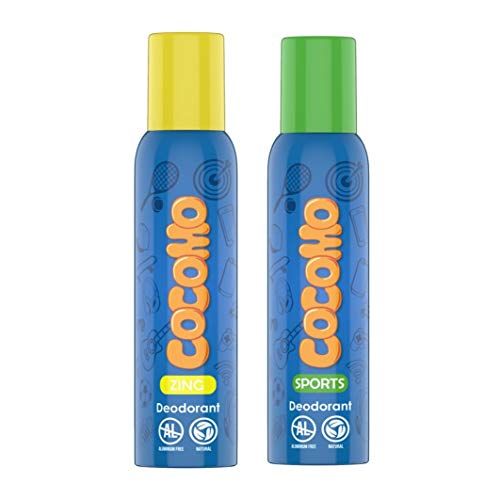 Cocomo Deodorant Combo Gift Pack For Boys - Sport & Zing, Natural & Safe For Tweens, Teens & Adults