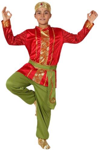 Atosa-15846 Disfraz Hindú, color rojo, 7 a 9 años (15846)