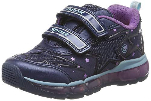 Geox Mädchen J Android Girl B Sneaker, Blau (Navy/Purple C4269), 37 EU