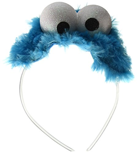 Disguise Women's Sesame Street Cookie Monster Adult Costume Headband, Blue, One Size
