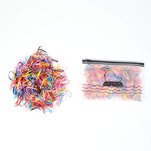Mini 500 Stück Haargummis,Mehrfarbige Mini Elastische Haargummis bänder,Haargummi und süäe Aufbewahrungstasche, geeignet für Kinder Ponytail Holders (mehrfarbig) (500 Farben)