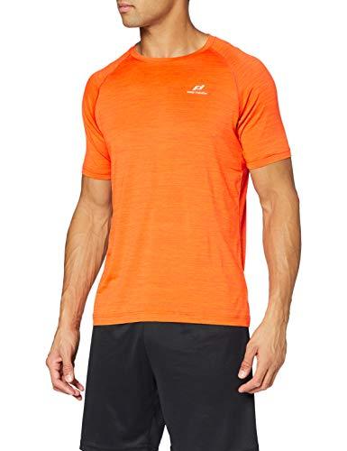 Pro Touch Herren Rylu T-Shirt, Melan Ge/Orange, L