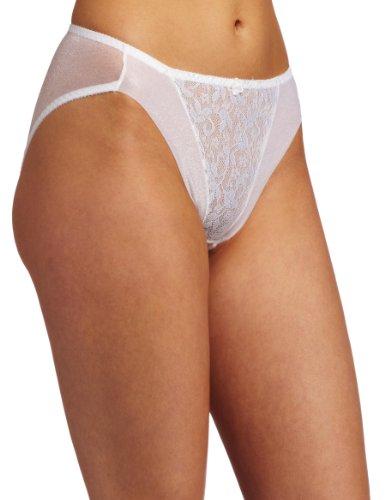 CARNIVAL Bragas de Bikini de Encaje de Corte Alto para Mujer, Blanco, S