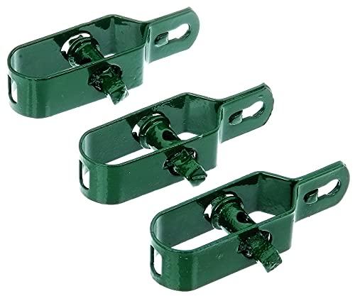 GAH-Alberts 611170 Drahtspanner   verzinkt, grün kunststoffbeschichtet   Größe 2   Länge 100 mm   3er Set