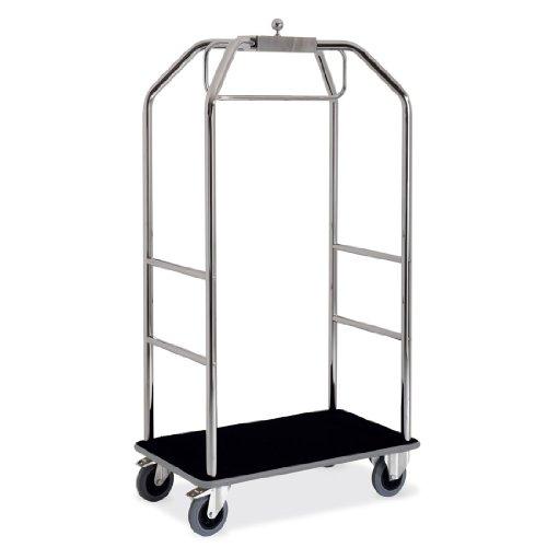 Kleider- und Gepäckwagen ETERNASOLID® - verchromt, Teppich-Schwarz, Länge 99cm