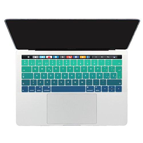 batianda spagnola copertura del tastiera/Keyboard Cover MacBook Pro 13152016con Touch Bar (modello: a1706/cerimonia) Silicone Skin verde Verde graduale