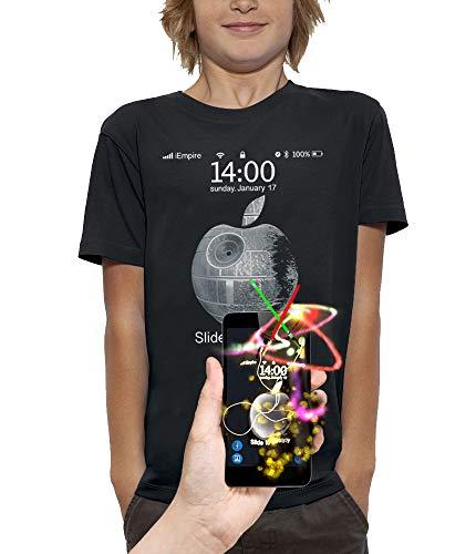 PIXEL EVOLUTION Camiseta 3D Slide TO Destroy en Realidad Aumentada Niño - tamaño 5/6 años - Negro