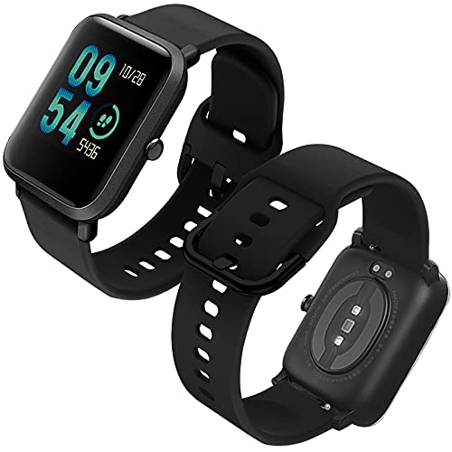 Th-some Correa para Amazfit GTS Impermeable Universal - Reemplazo de Pulsera Ajustable para Xiaomi Huami Amazfit Bip/Amazfit Bip bit Lite Youth/Amazfit GTR 42mm Watch, Sin Tracker - Negro