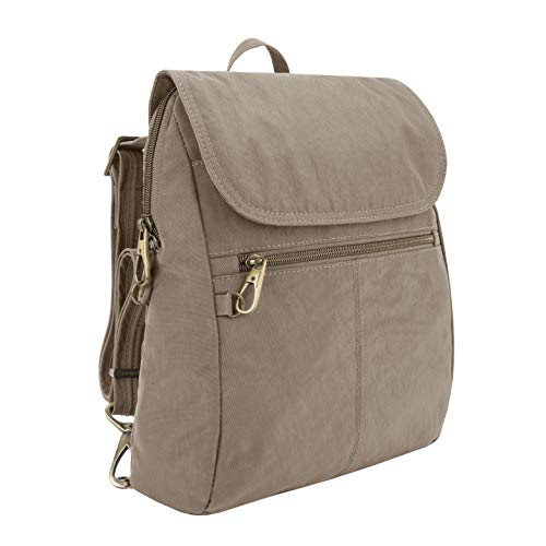 Travelon: Anti-Theft Signature Nylon Slim Backpack - Sable
