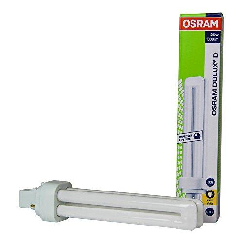 10er Osram Kompakt Leuchtstofflampe DULUX D 26W/830 G24D3 2PIN - EEK: A warmweiß