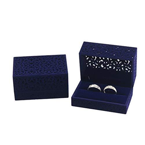 JOYKK Royal Blue Velvet sieradenkistje, juwelenkistje, geschenkdoos
