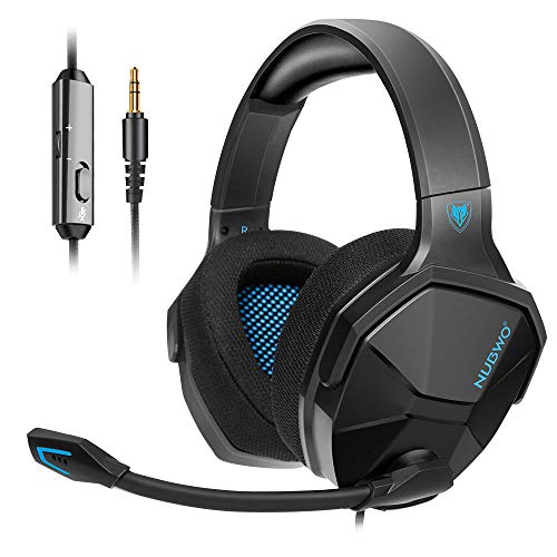 NUBWO PS4 Gaming Headset, Xbox One Kopfhörer mit Mikrofon Stereo Surround Sound Compatible with PC/PS4/Xbox 1/Switch (Blue)