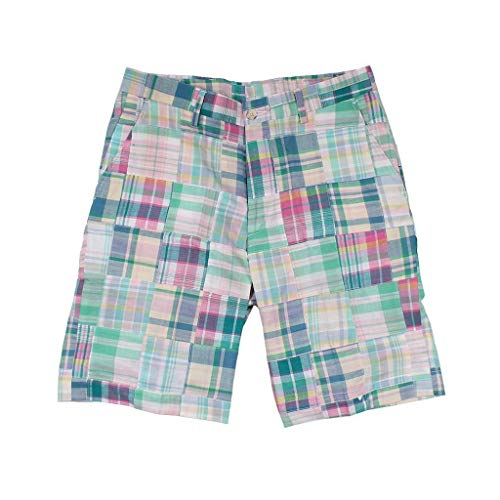 Country Club Prep Pastel Patchwork Madras Shorts