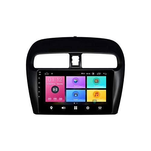SAT NAV CAR Stereo GPS HD Touchscreen Multimedia Auto Music Player Head Unit Radio Receiver Für Mitsubishi Mirage Attrae 2012-2018 Mit Navigation Bluetooth 4G WLAN USB,4 core 4g+wifi: 1+32gb