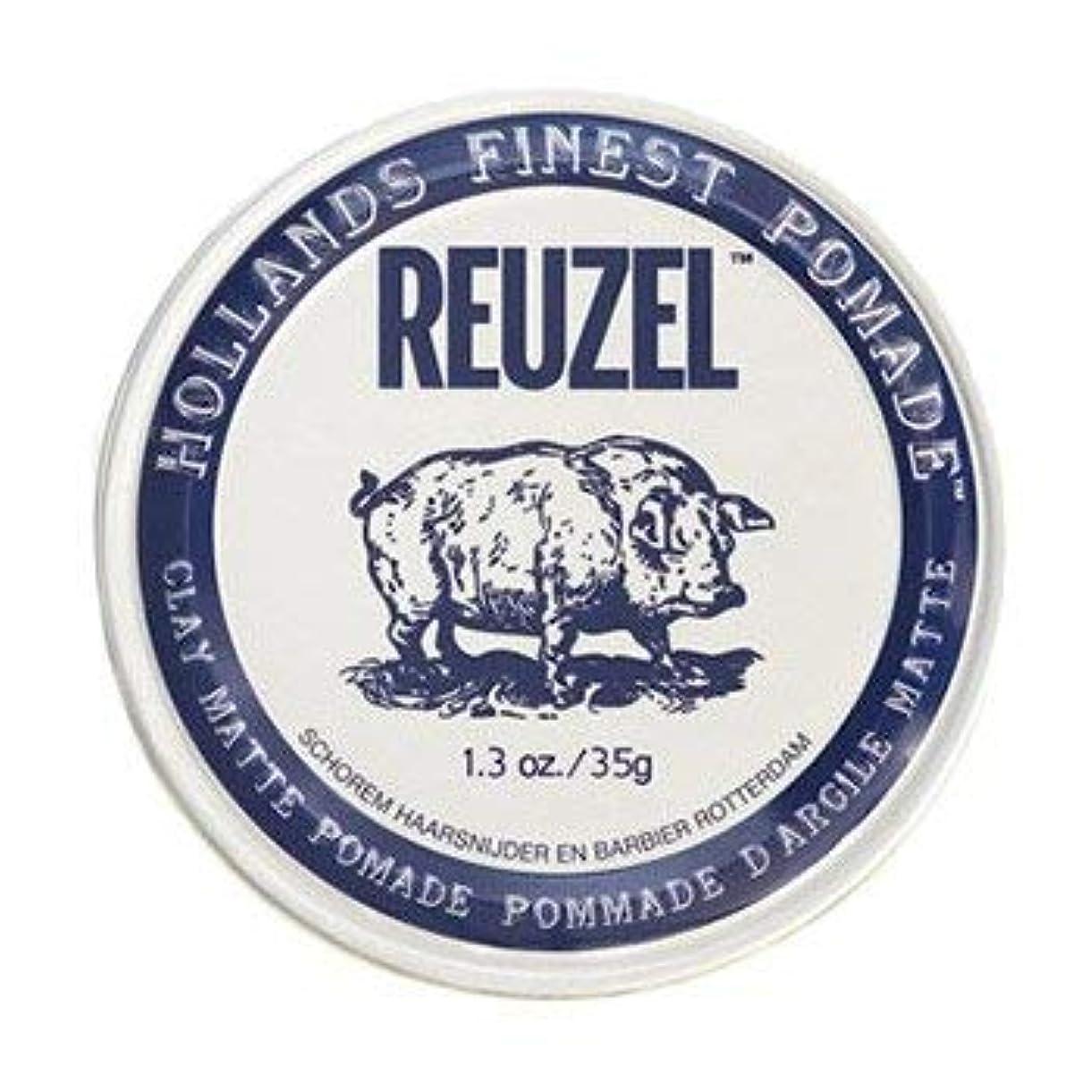 家畜振りかけるきれいにルーゾー ホワイト クレイマット ポマード Reuzel White Clay Matte Pomade 35g [並行輸入品]
