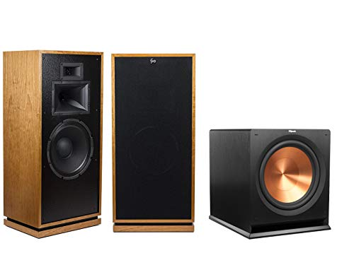 Lowest Price! Klipsch Forte III Heritage Series Tower Speakers (Pair, Cherry) with Klipsch R-115SW 1...