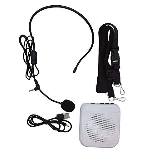 Broadwatch 拡声器 メガホン ポータブル拡声器 ハンズフリー ピンマイク ヘッドマイク 小型スピーカー