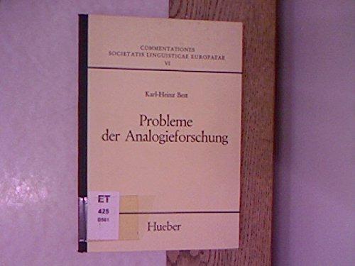 Probleme der Analogieforschung.