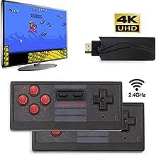 Newly Classic Game Console,4K HDMI Mini Game Console Built-in 628 Game,Mini Retro Console Wireless Controller