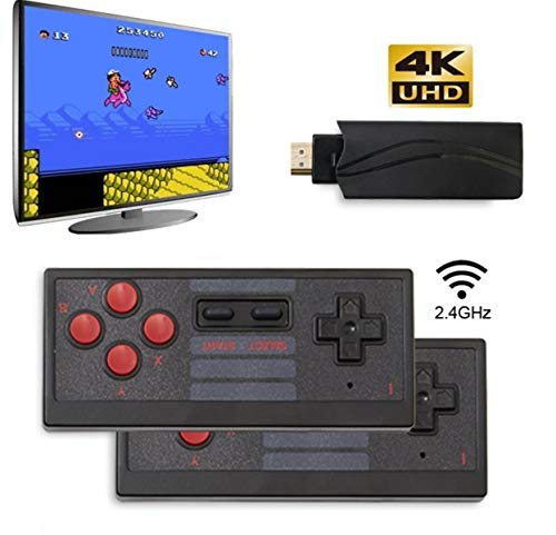 commercial retro gaming consoles New Classic Gaming Console, 4K HDMI Mini Gaming Console, Integrated Gaming 628, Wireless Mini Retro Console Controller