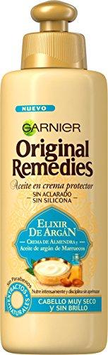 Garnier Original Remedies Aceite en Crema Protector Elixir de Argán - Pack de 6 unidades x 200 ml - Total: 1200 ml