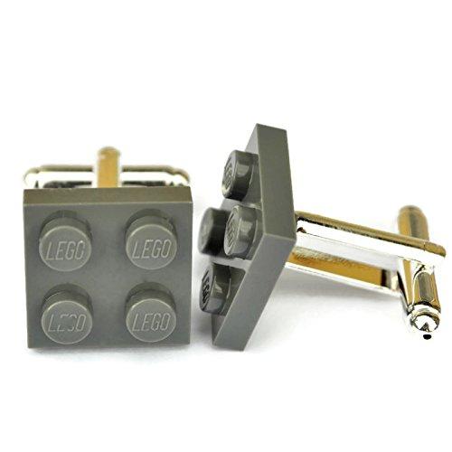 Lego® Plaque boutons de manchette (Gris foncé), mariage Mariés, Idée Cadeau pour Homme