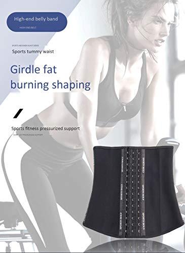 Eieay Waist Training, Female Waist Trimmer Yoga Exercise Fitness Weight Loss Waist Training Device,M
