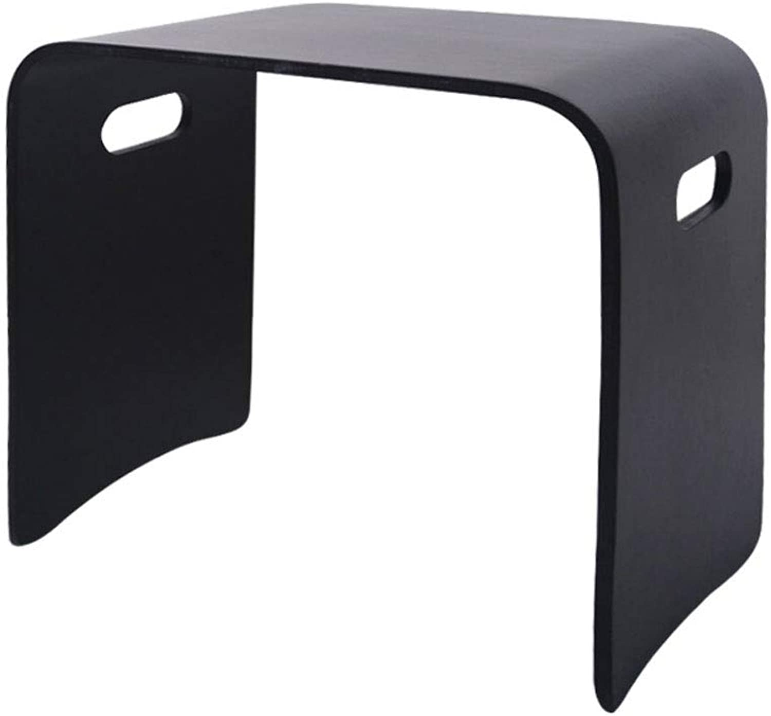 ZSLLO Small Square Stool Solid Wood Black Simple Modern Wooden Bench Bench Adult Home Dining Table Stool Fashion Creative Bedside Table (color   K 18.9  12.2  16.9in)