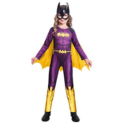 amscan 9906615 Batgirl - Disfraz de Warner Bros para niñas (6-8 años), color morado