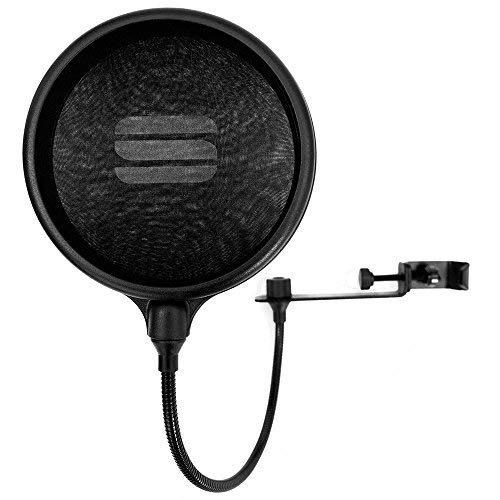 Dual Layer Pop Filter   Perfect & Improve your Vocal Recordings   Original Studio Series Model - Fits all microphone stands