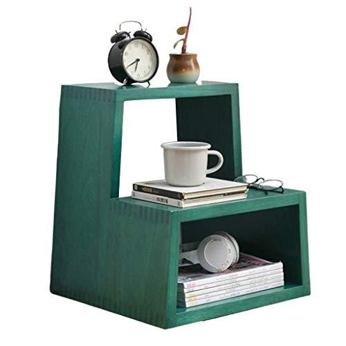 Diaod Escalera Banco de Zapatos Silla-, Nivel Zapatero de Entrada, Organizador del almacenaje de la Espuma del Asiento Acolchado, imitación de Cuero, Marco de Metal (Color : Green)