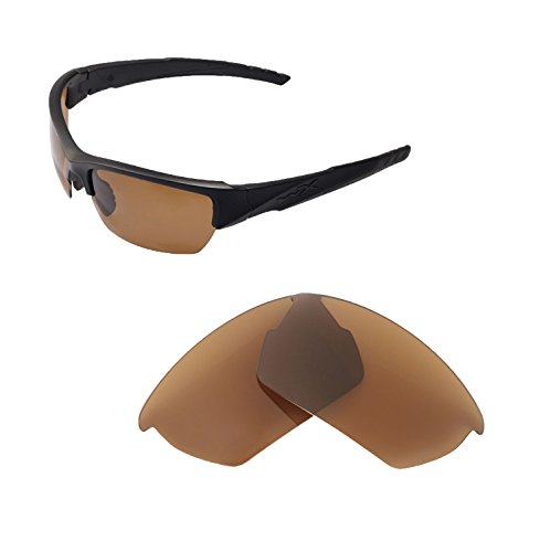 Walleva Ersatzgläser für Wiley X Valor Sonnenbrille - Mehrfache Optionen (Braun - polarisiert)