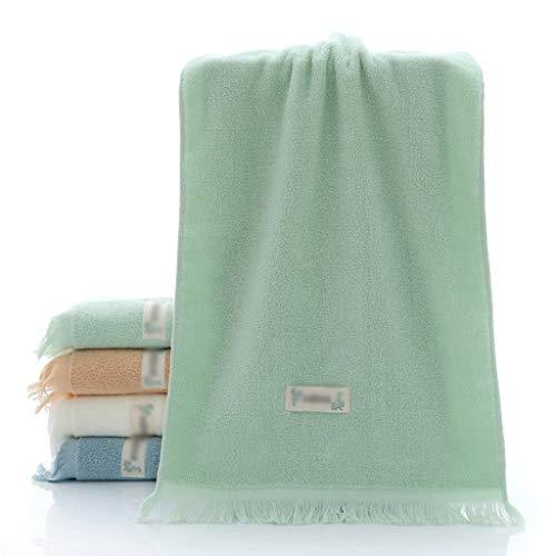 DYXYH Toalla Creativa con Flecos de algodón Toalla de Limpieza Facial para el hogar para Adultos Toalla de SPA de algodón Estilo Pareja Toallas para el Cabello (Color : Green)