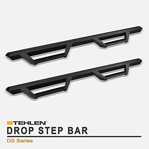 Stehlen 642167818984 Hoop Drop Step Side Nerf Bars Rail Running Boards v2 - Matte Black For 2005-2020 Toyota Tacoma Double (Crew) Cab