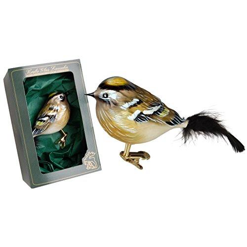 Krebs Glas Lauscha - Vogelsortiment (Goldhähnchen weiblich)
